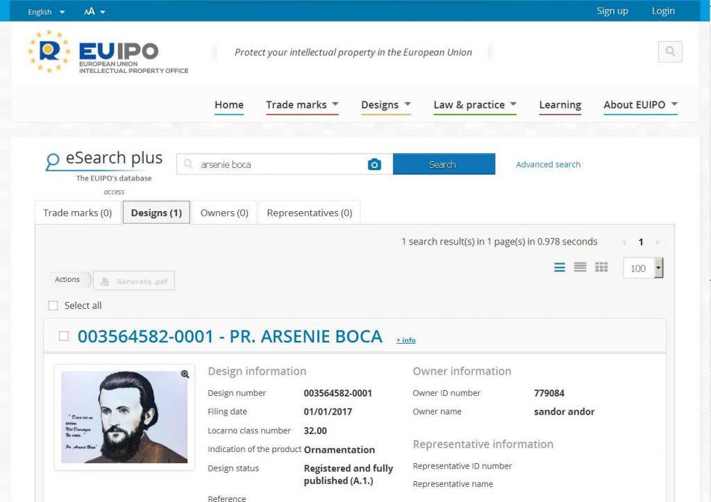 "Image result for marca ""Arsenie Boca"""